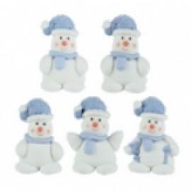 sneeuwman met blauwe muts  - suikerdecoratie